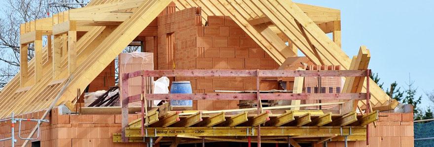 chantier d'une maison en construction